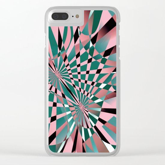 lost in reflections Clear iPhone Case