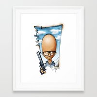 moby Framed Art Prints featuring Moby by alexviveros.net