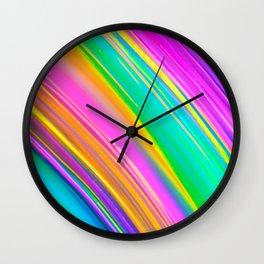 mint saturn Wall Clock