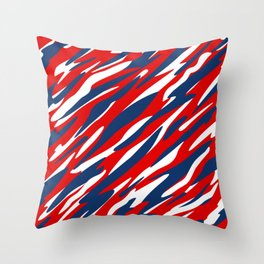 Red, White and Blue Patriotic Pattern Throw Pillow