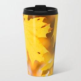 Golden Fall Leaves Travel Mug