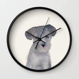 little schnauzer Wall Clock