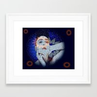 ezra koenig Framed Art Prints featuring Ezra by James Nash