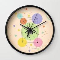 bug Wall Clocks featuring bug by mark ashkenazi
