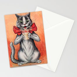 Drinking Cat-Funny Cat-Louis Wain Stationery Cards