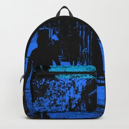 Blue party in the village Backpack