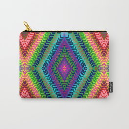 Psychedelic Chevron Carry-All Pouch