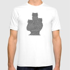 Three Owls Mens Fitted Tee SMALL White