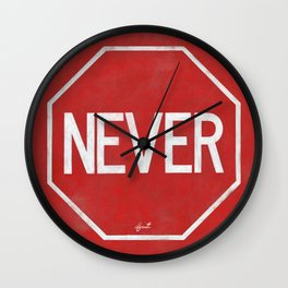 NEVER STOP Wall Clock