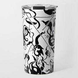 Abstract Line Art Suns Travel Mug