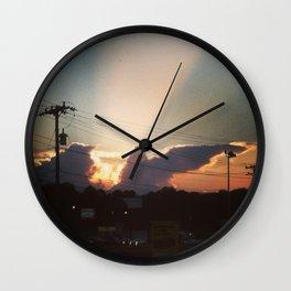 Sunset in Matthews, NC Wall Clock