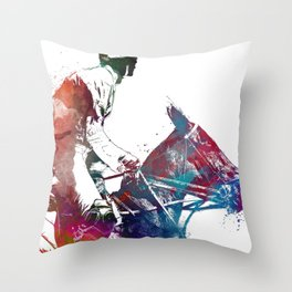 Rider #rider #horse #sport Throw Pillow