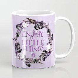 Enjoy The Little Things Typography Coffee Mug