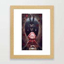 Little Red Riding Hood and Mr. Wolf Framed Art Print