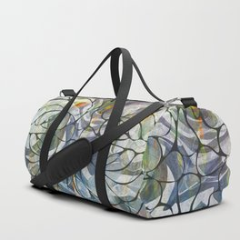 Abstract Flower Pattern Duffle Bag