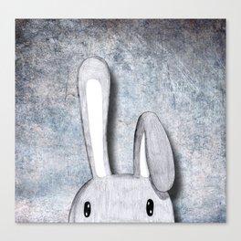 Rabbit question: Dimension Canvas Print