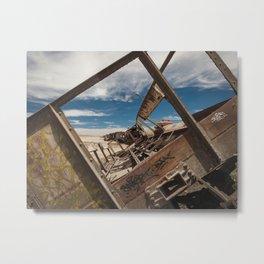 Great Train Graveyard, Uyuni, Bolivia Metal Print