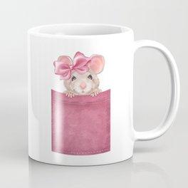 Mouse in pocket. Pink version Coffee Mug