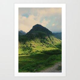 Mountain in Glencoe, Scotland Art Print