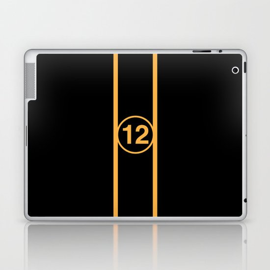 RACING COLOURS- LOTUS BLACK AND GOLD Laptop & iPad Skin