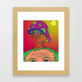 The Mushroom Man Framed Art Print