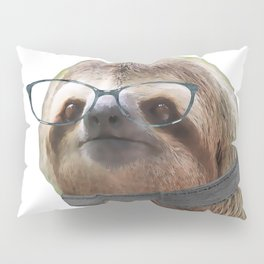 Sloth Black Glasses COLLAR Sloths In Clothes Pillow Sham