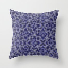 Radio Waves in Concrete and Navy Throw Pillow
