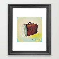 luggage  Framed Art Print