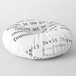 13   | Henry David Thoreau Quotes  | 190715 | Floor Pillow