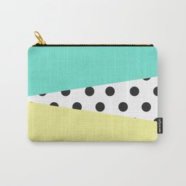 Color Block & Polka Dots Carry-All Pouch