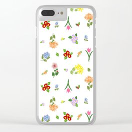 Flourishing Floral Clear iPhone Case