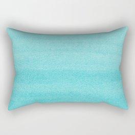 Aqua Blue Watercolor Ombre Pattern Rectangular Pillow