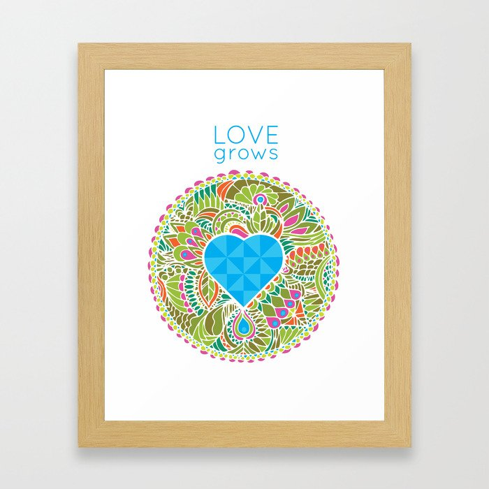 LOVE grows heart lake (alternate) Framed Art Print