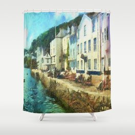 Bayards Cove, Dartmouth,  Devon Shower Curtain