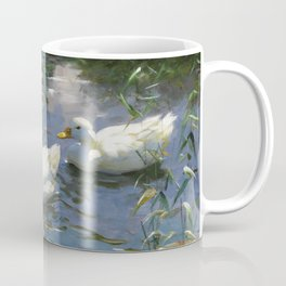 Four ducks in the pond by Alexander Koester, 1932 Coffee Mug
