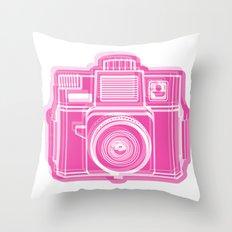 I Still Shoot Film Holga Logo - Pink Throw Pillow