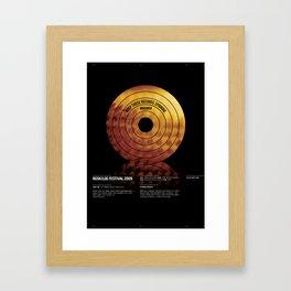Roskilde Festival poster Framed Art Print