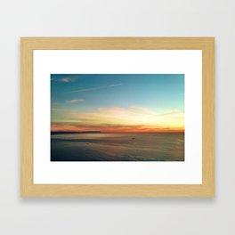 Pacific Ocean Sunset off the Coast of California Framed Art Print