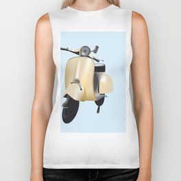 Three Vespa scooters in the colors of the Italian flag Biker Tank