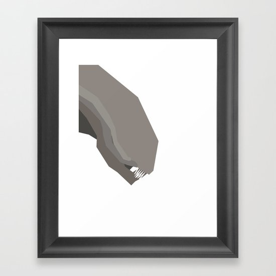Basic Paper - Alien Framed Art Print