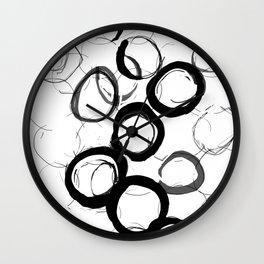Abstract Line No. 22 Wall Clock