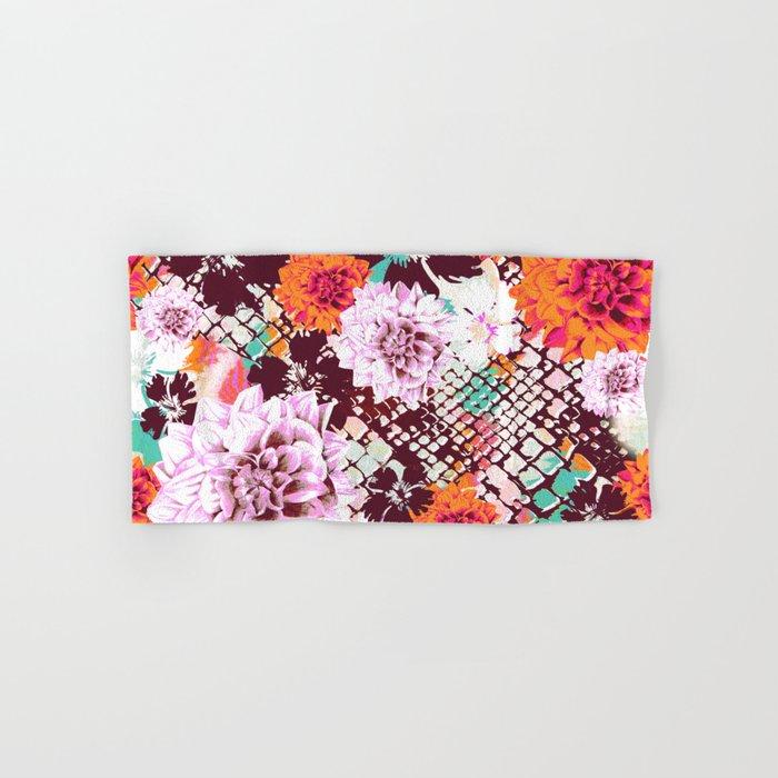 Croc Floral Hand & Bath Towel