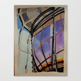 Sunset on the Lighthouse Lens Canvas Print