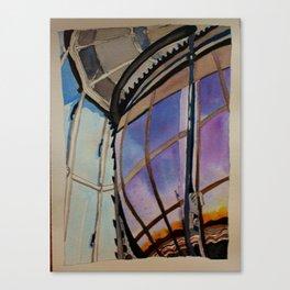 Sunset on the Lighthouse Lens Canvas Print