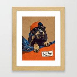Hipster Puppy Framed Art Print