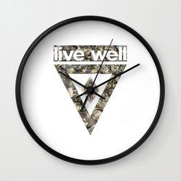 Live Well Wall Clock