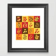 Ampersands Framed Art Print