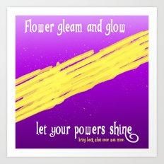 GLEAM & GLOW Art Print