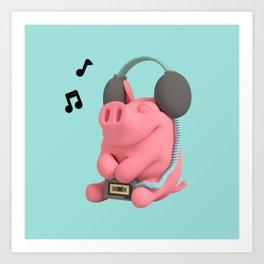 Rosa the Pig WalkMan Art Print
