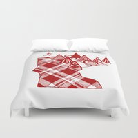 minnesota Duvet Covers featuring Minnesota Love by cmbringle